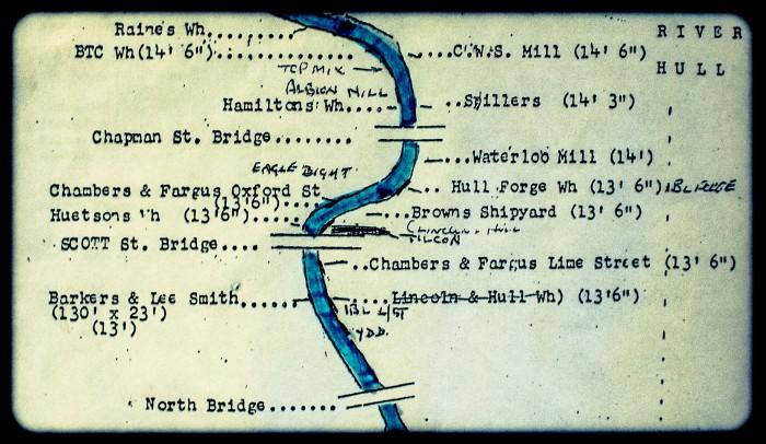 Wilmington river map detail