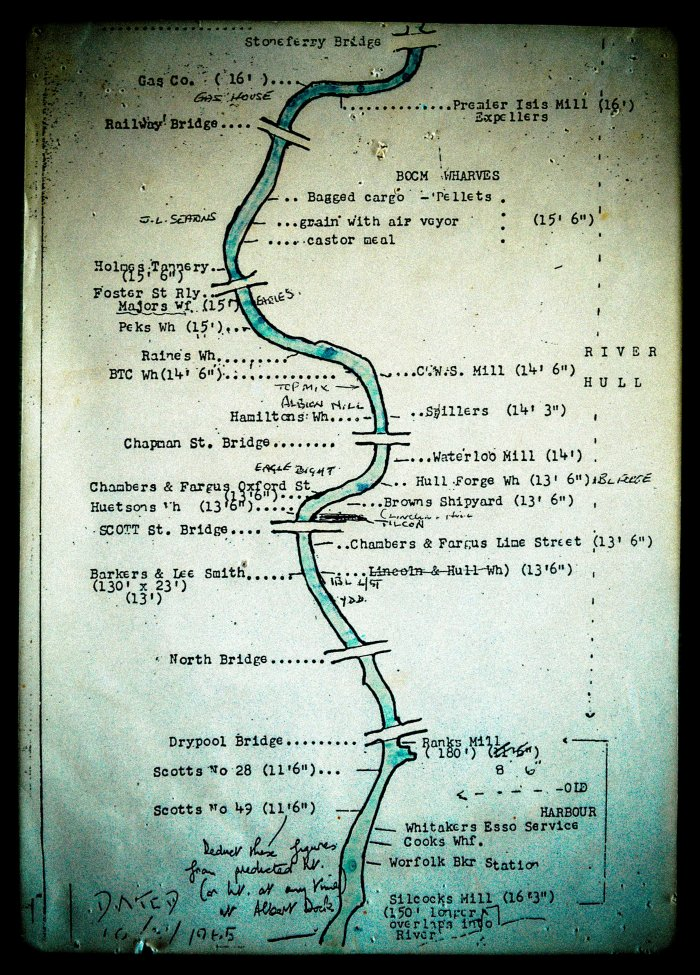 Wilmington - River and Bridge map - 1965