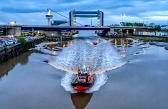 Humbere Rescuue on Open Bridges night by Stuart McLelland