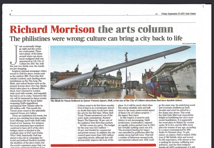 Times article Richard Morrison