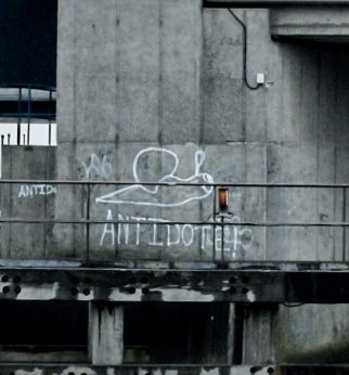 This appeared on Myton Bridge last week. Doesn't look like a Banksy - maybe it's a Burnsy