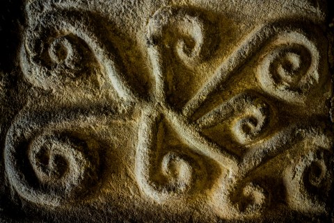 stone carving detail