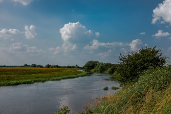 The River Hull at Eske looking north