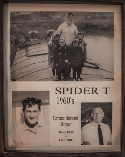 Karen and Linda and family on the Spider T in the 1960s