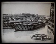 Concrete Barges in Hull Docks, 1949