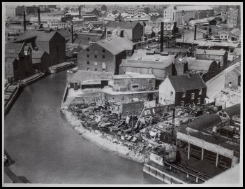 The River Hull from Paul's Mill July 5th 1949