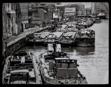 River Hull Barges- taken January 9th 1981 incl. Linklight, George Dyson and Allendale