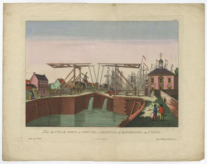 'Vue de l'Est du Pont et Nouvel Arsenal de Kingston sur l'Hull.'