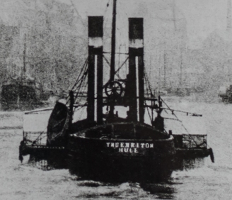 Three man tug crew Old Harbour 1875