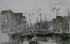 The Old Harbour looking south from Salthouse Lane Bridge 1885
