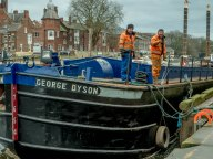 Mooring at Queen's Staithe, York